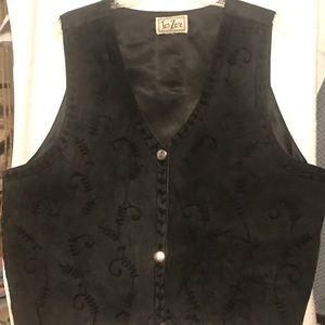 Vest Leather Like. Tan Zara Vintage. Size 18